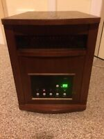 Wood cabinet infrared heater