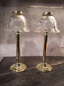 2 Partylite candle lamps