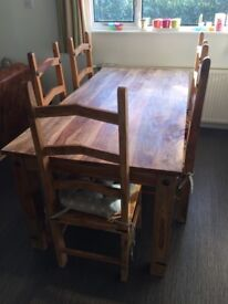 John Lewis solid wooden large dining table.