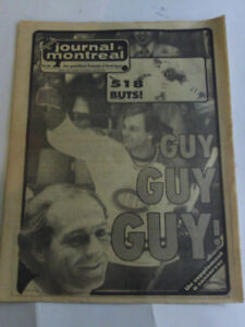 CAHIER SUPPLEMENT DE LA RETRAITE DE GUY LAFLEUR DU CH DE 1984