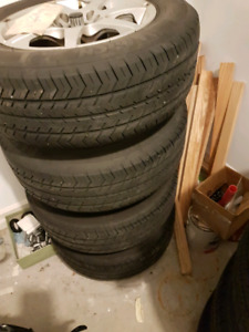 Michelin All Season Tires w Aluminum Wheels (P185/70R14) x4