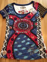 New with tags Desigual t-shirt sz M