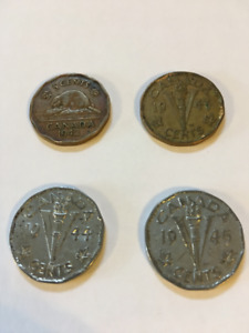 Coins: 1942 - 1945 Canadian Nickels