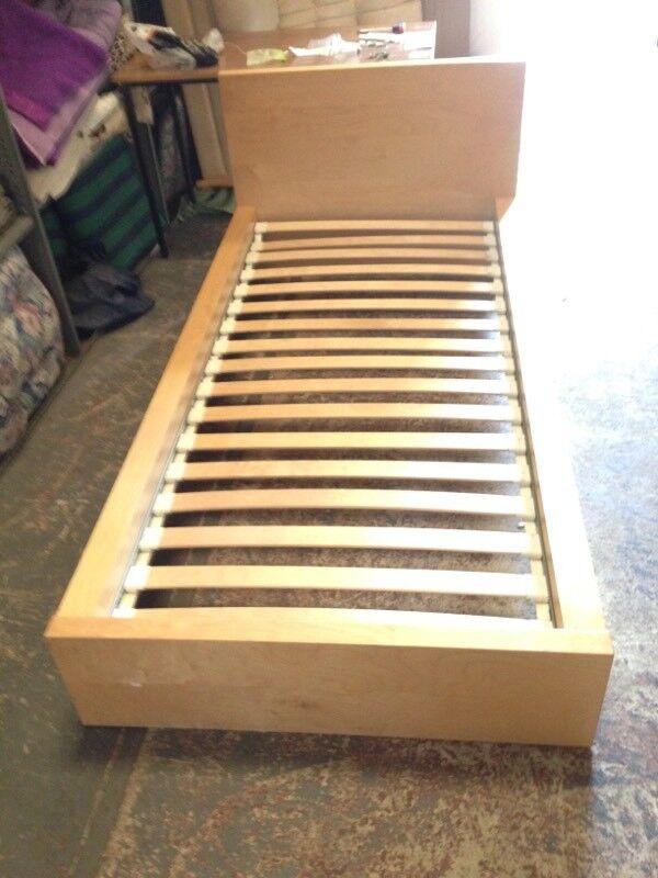 Wooden Ikea Single Beds x 2