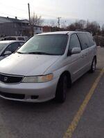 Honda Odyssey 2001 avec 186000 km