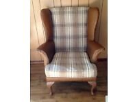 Original vintage Wingback/Fire side arm chair*re-upholstered*