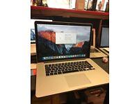 MacBook Pro 2.5GHz i7 16gb 500gb SSD