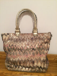 **Brand new purse - champagne, brown and bronze