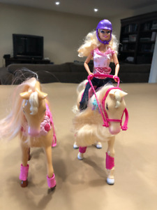 Barbie Horses and Doll