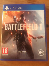 Battlefield 1 Playstation 4 game + premium pass