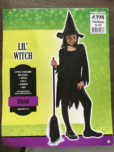Costume Halloween de sorciere / Witch Halloween Costume for kids West Island Greater Montréal image 2