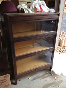3 door bookcase