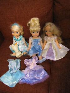 3 Dolls and some Princess Toys
