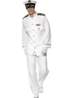 Kapitän Kostüm 5-teilig Uniform Kapitän Käptn Pilot deluxe - Pilot Kapitän Kostüm