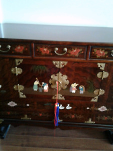 Asian Wooden Decorative Chest