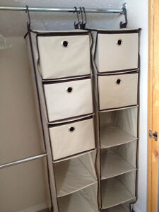 Fold-able hanging closet boxes in Castleagar