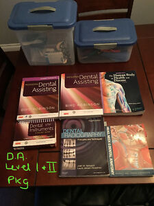 LIKE NEW!! DENTAL ASSISTING LEVELS I & II TEXTS & KITS