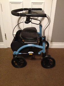 Xpresso Modern Center Fold Walker with padded seat-like new