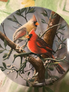 """Kevin Daniel Collectible Plate """"The Cardinal"""" -Bradford Exchange"""