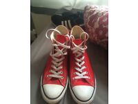Converse all stars Red UK 9