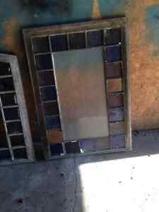 Stained glass windows and sconces