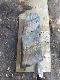 Set of 3 Slate garden monolith