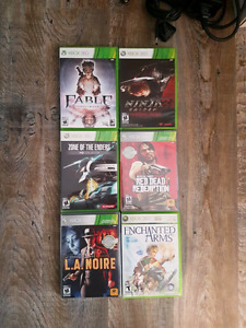 Xbox 360 with new kinect and 6 games 150obo