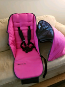 Uppababy Olivia (pink) seat fabric and canopy