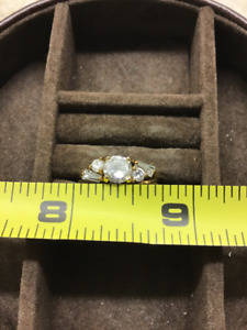 Gold engagement ring, size 7