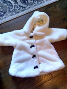 Faux fur 6-9 month coat