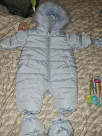 Baby Blue minitini snowsuit