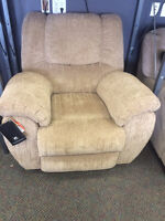 ASHLEY YELDON MOCHA RECLINER (NEW)
