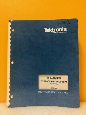 Tektronix 070-1767-00 7633r7633 Storage Oscilloscope W Options Service Manual