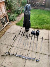 Ladies left hand full set Dunlop golf clubs