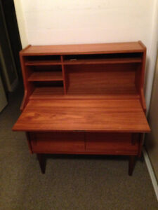 Danish secretaire desk and matching shelving unit