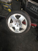 5x112x17 Audi fat five wheels with tires