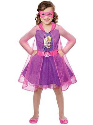 Super Hero Barbie Spy Squad Princess Age 3-10 Girls Childs Fancy Dress Costume ()