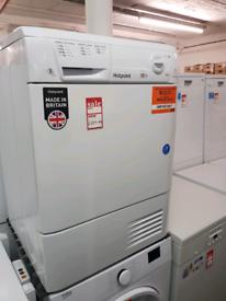 Brand New Hotpoint CDN7000BP 7kg AQUARIUS Condenser Tumble Dryer in Wh