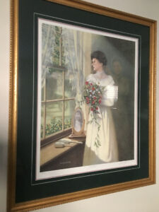THE LOCKET - NUMBERED AND SIGNED PRINT BY JAMES LUMBAR 826/2500