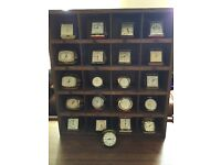 Vintage travel alarm clocks job lot x21