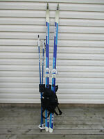 Soho cross-country skis,poles and tote and chaps