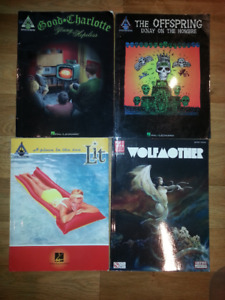 Lots de songbook Lit - Offspring - Good Charlotte - Wolfmother