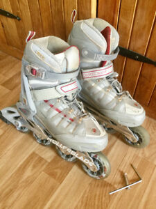 rollerblades / patins à roulette femme taille 8.5