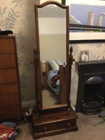 Full Length Oak Mirror