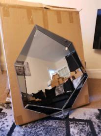 Large Mirror NEW Designer Dark Mirrored Frame Large Wall Mirror