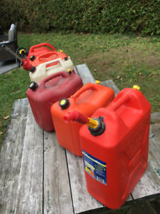 various gas cans