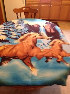 Horse fleece blanket 60 inches long by 47 inches wide
