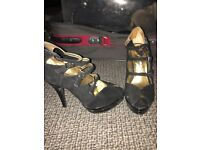 Stunning suede straps shoes worn once sz5