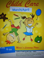 Child Care for March and April!