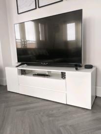 Nearly New White TV Unit